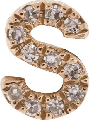 Ef Collection Diamond Initial S Stud Earring