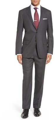 Men's Hart Schaffner Marx Classic Fit Solid Wool Suit $795 thestylecure.com