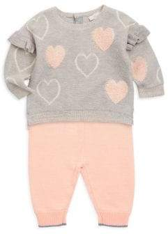 Miniclasix Baby Girl's Two-Piece Sweater& Leggings Set