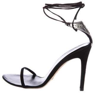 Alexandra Neel Embellished Suede Sandals