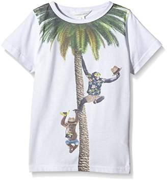 Pumpkin Patch Boy's Happy Chimp Tee Plain Sports Shirt,3 (Manufacturer Size:2)