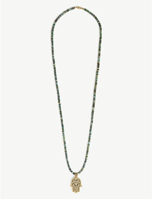 Nialaya Jade Hamsa penchant bead necklace