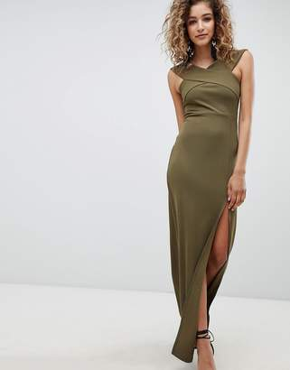 AX Paris Bardot Maxi Dress With Side Split