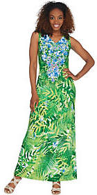 Linea by Louis Dell'Olio Regular Island FloralMaxi Dress