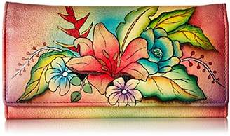 Anuschka Handpainted Leather 1710-TBQ Multi Pocket Wallet