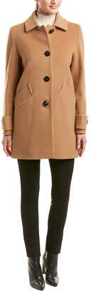 Cinzia Rocca Short Wool & Cashmere-Blend Coat