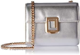 Marella LUANA ITALY Women's Mini Chain Crossbody Leather Handbag Metallic