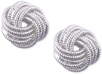 Nine West Silver-Tone Love Knot Stud Earrings