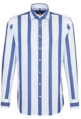 Seidensticker Slim-Fit Stripe Button-Down Shirt