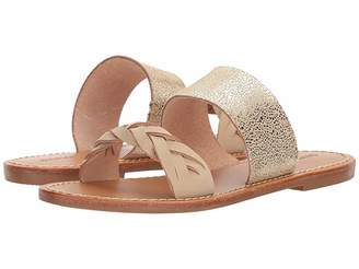 Soludos Metallic Braided Slide Sandal