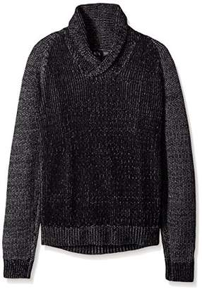 Armani Exchange A X Men's Wool Blend Double Yard Dyed Shawl Collar Sweater