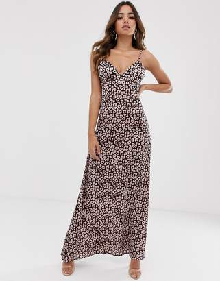 be04ca18b50 Club L London low back cami maxi dress in animal print