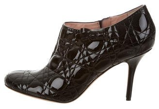 Christian Dior Patent Leather Quilted Booties