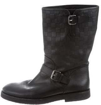 Louis Vuitton Damier Infini Leather Boots