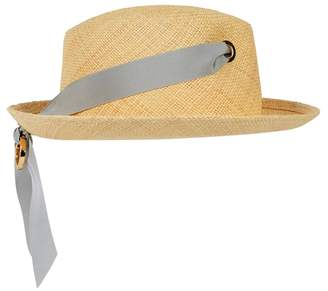 Federica Moretti Sand Straw Panama Hat