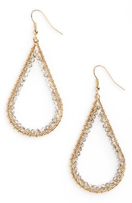 Women's Panacea Beaded Teardrop Earrings $18 thestylecure.com