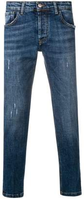 Entre Amis distressed slim fit jeans