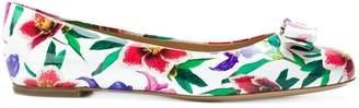 Salvatore Ferragamo floral print ballerina shoes