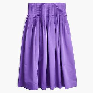 J.Crew Satin pleated midi skirt