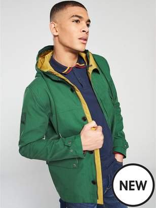 Pretty Green Contrast Hooded Jacket - Green