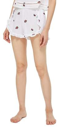 Topshop Ruffle Pajama Shorts