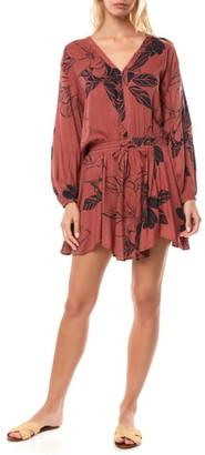 O'Neill Marino Floral Print Long Sleeve Minidress
