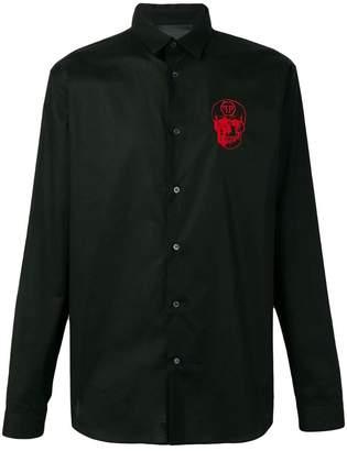 Philipp Plein skull embroidered shirt