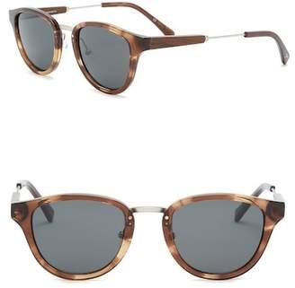 Shwood Women's Ainsworth Polarized 49mm Rounded Sunglasses