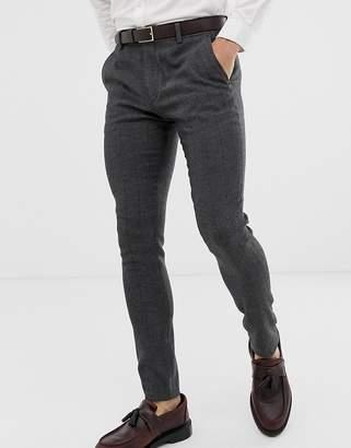 af69f0dc4b Herringbone Skinny Suit Trousers - ShopStyle UK