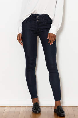 Best Mountain High-Waist Double Button Jeans
