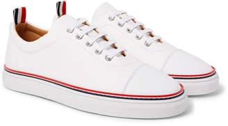 Thom Browne Pebble-Grain Leather Sneakers