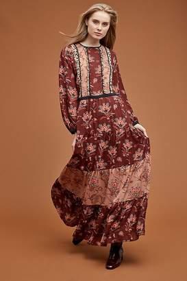 bf5bed3eb06 Maison Scotch Printed-Peasant Maxi Dress