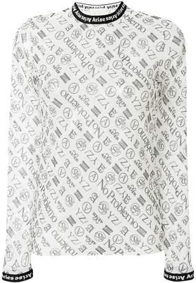 Aries logo print blouse