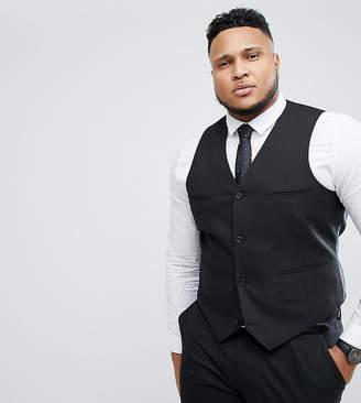Asos Design DESIGN Plus slim suit vest in black