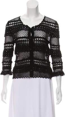 Dolce & Gabbana Open Knit Button-Up Cardigan