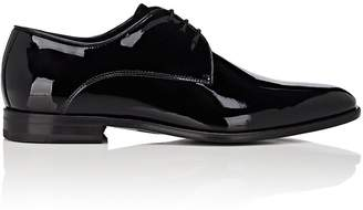 Barneys New York Men's Patent Leather & Velvet Bluchers