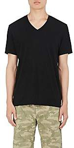 James Perse Men's Cotton Jersey V-Neck T-Shirt - Black