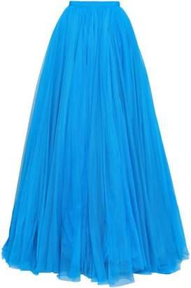 Jenny Packham Grosgrain-trimmed Tulle Maxi Skirt