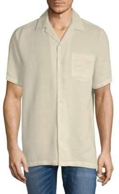 Saks Fifth Avenue BLACK Short-Sleeve Camp Button-Down Shirt