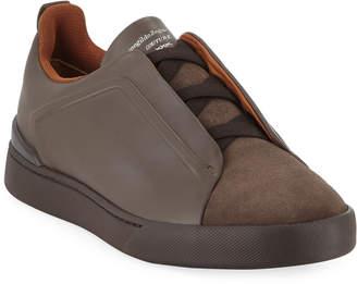 Ermenegildo Zegna Men's Triple-Stitch Low-Top Sneakers
