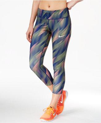 Nike Power Epic Run Printed Capri Leggings $85 thestylecure.com