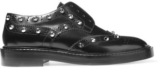 Balenciaga - Studded Leather Brogues - Black $885 thestylecure.com