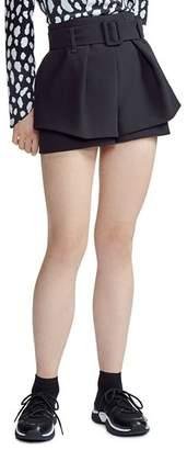 Maje Ikaren High-Waist Shorts