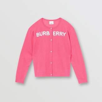 Burberry Childrens Logo Print Cashmere Two-piece Set