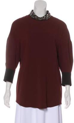 3.1 Phillip Lim Embelllished Long Sleeve Tunic