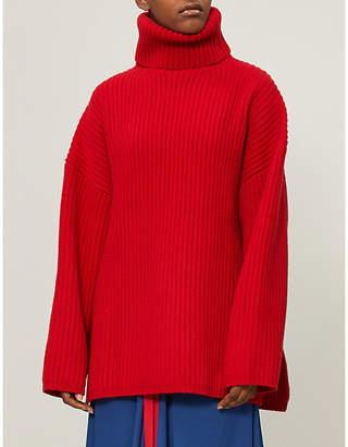 Acne Studios Ribbed-knit wool turtleneck jumper