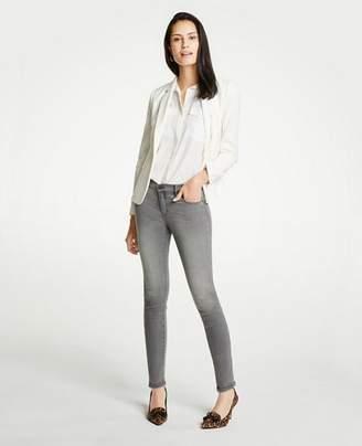 Ann Taylor Petite Modern Skinny Jeans In Mid Grey Wash