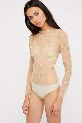 Ranna Gill Embellished Pearl Bodysut