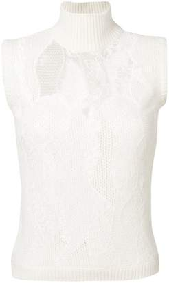 Ermanno Scervino lace inserts knit top