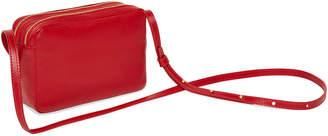 Mansur Gavriel Double-Zip Leather Crossbody Bag